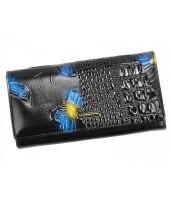 Lakovaná peňaženka Cavaldi pre dámy, koža / PU s motýľmi v darčekovej krabičke - PN24-BFC
