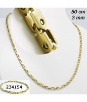 Retiazka z ocele zlátená 50cm 234156A
