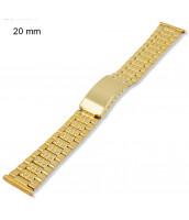 Zlátený, oceľový remienok na hodinky šírka 20 mm - 10RE694-25