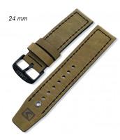 Zelený, kožený remienok šírka 24 mm - 10RE900-02