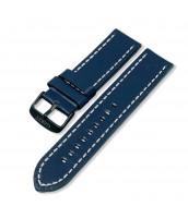 Modrý, kožený remienok 24 mm - pravá koža - 10RE902-05