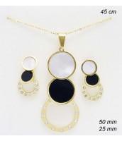 Súprava šperkov z ocele zlátená 237115CB