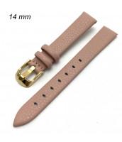 Dámsky, ružový remienok šírka 14 mm - zlatavá pracka - 10RE592-3R