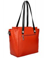 Tehlovo červená dámska kabelka cez rameno DAVID JONES - CM6081