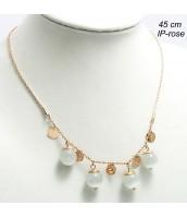 Oceľový náhrdelník s korálkami 237518