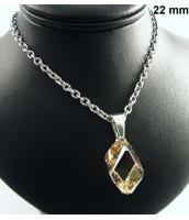 Náhrdelník z ocele s krištáľom Swarovski Elements - 271044ZL
