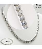 Oceľový náhrdelník/retiazka 45cm - 231281A