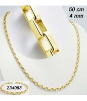 Zlátený náhrdelník z ocele 50cm 234089A