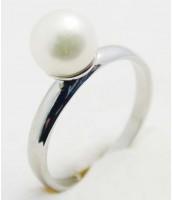 Oceľový prsteň s perlou EXEED 233240A