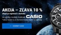 Hodinky CASIO - zľava 10 %!